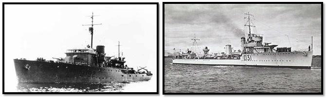 HMAS Corvette & Voyager